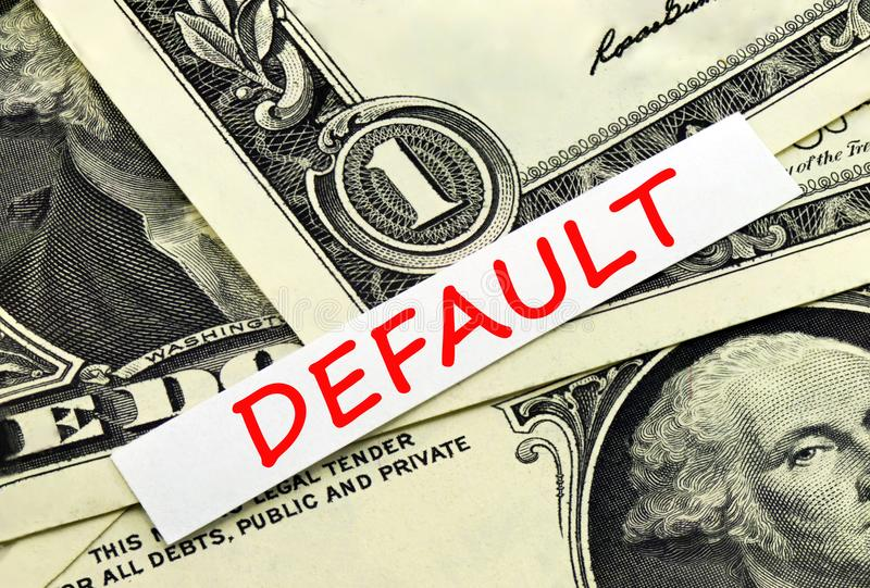 State default in symbol. The state`s default in the symbol stock photo