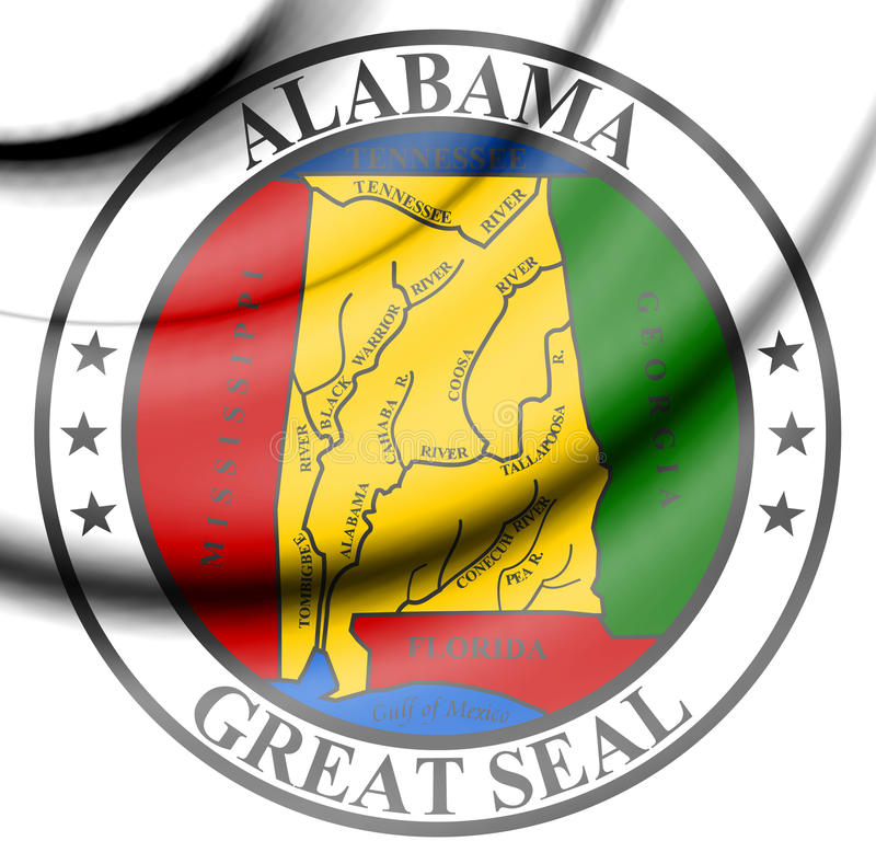 State Seal of Alabama, USA. 3d Rendered State Seal of Alabama, USA vector illustration