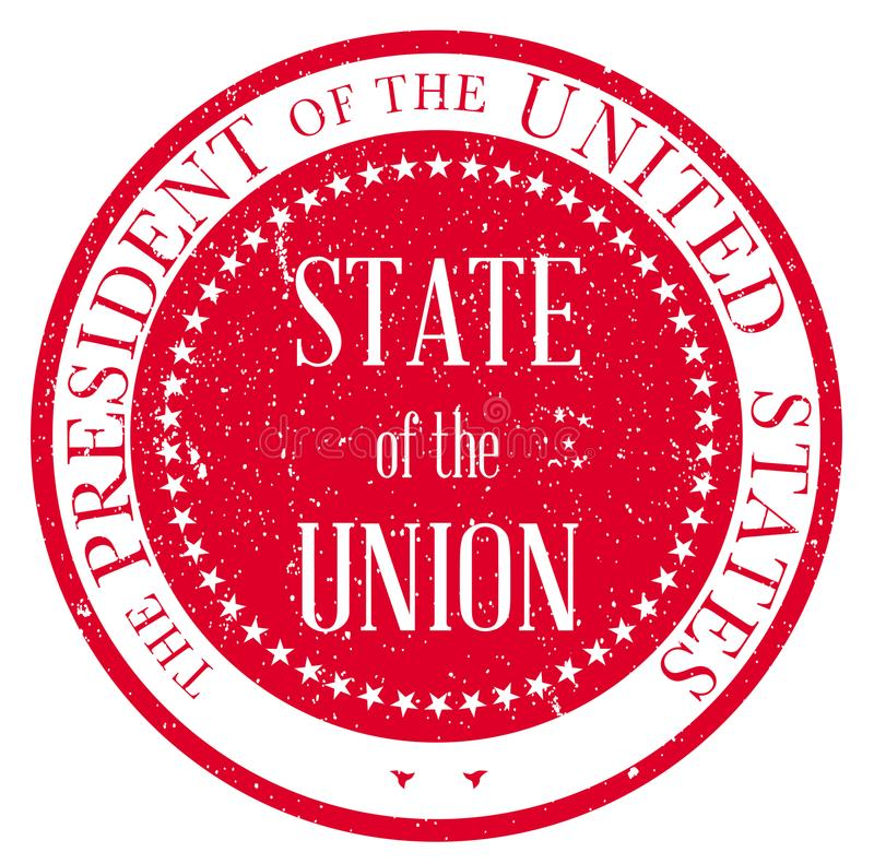 State of the Union Stamp royalty free illustration