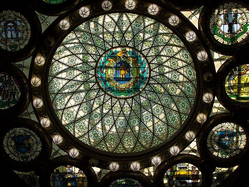 Statehouse Boston. Interior interno fotografía de archivo