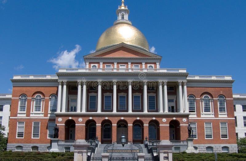 Statehouse Boston Massachusetts EUA fotografia de stock