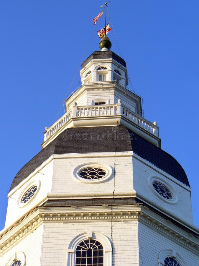 Statehouse de capitol d'Annapolis photographie stock libre de droits