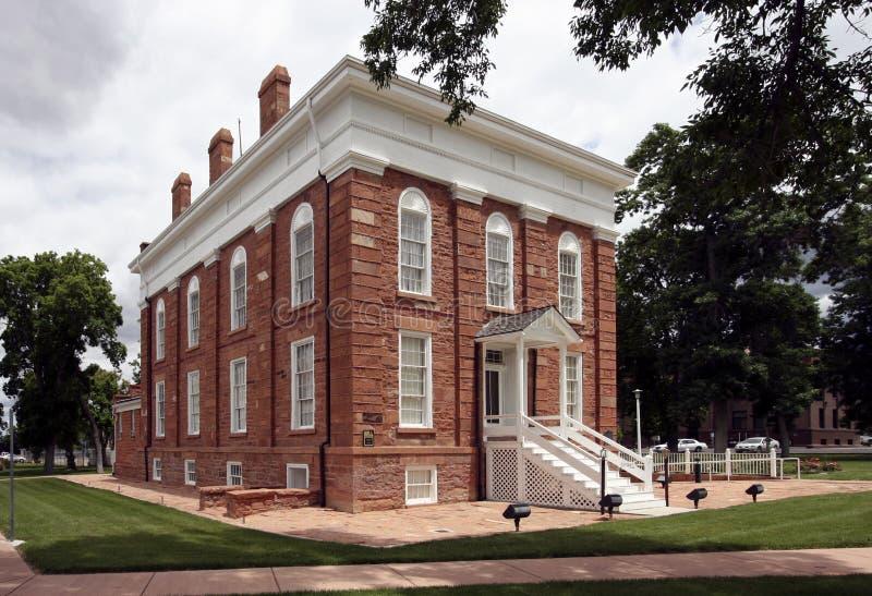 Statehouse territorial de Utah foto de archivo libre de regalías