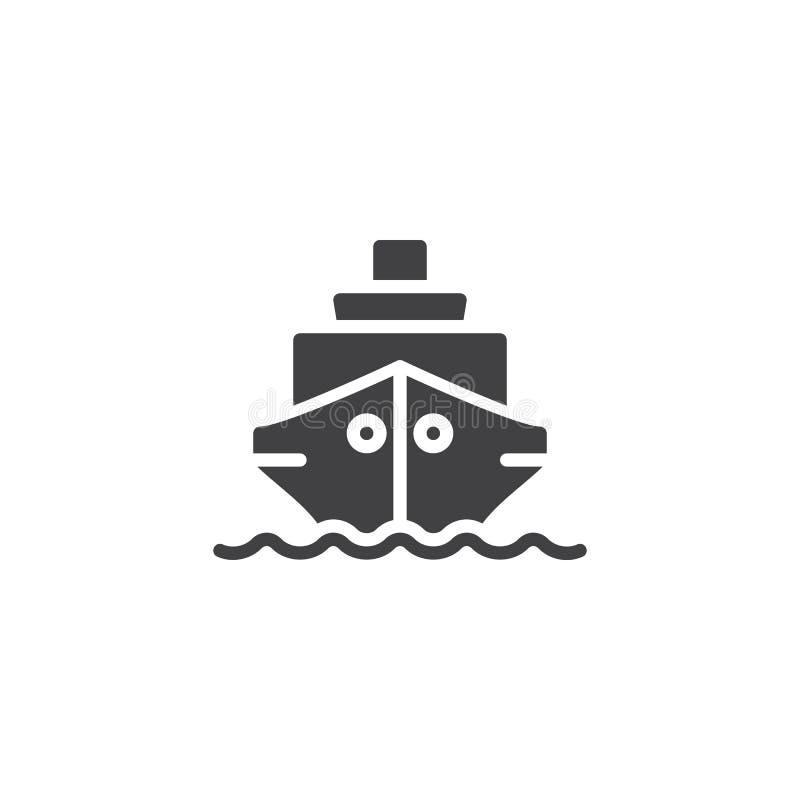 Statek łódkowata wektorowa ikona royalty ilustracja