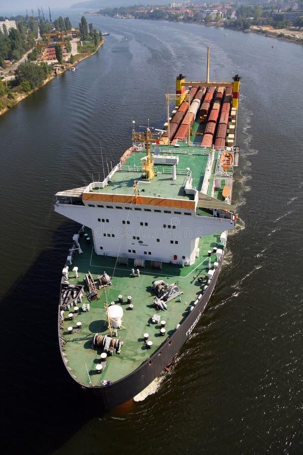 statek ładunku geroite na Odessa statek zdjęcia royalty free