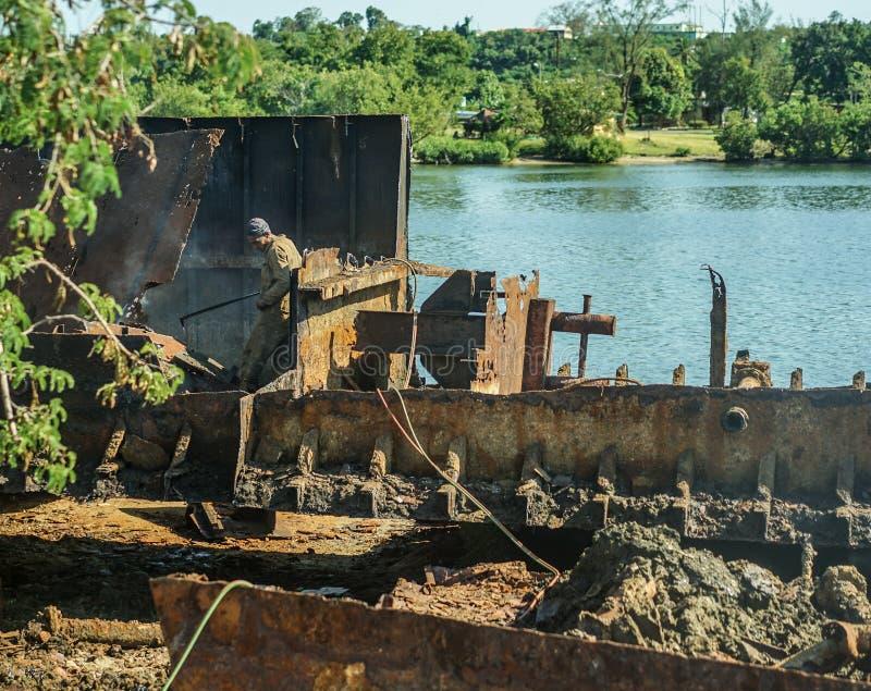 Statek łama jarda, Kuba zdjęcia royalty free
