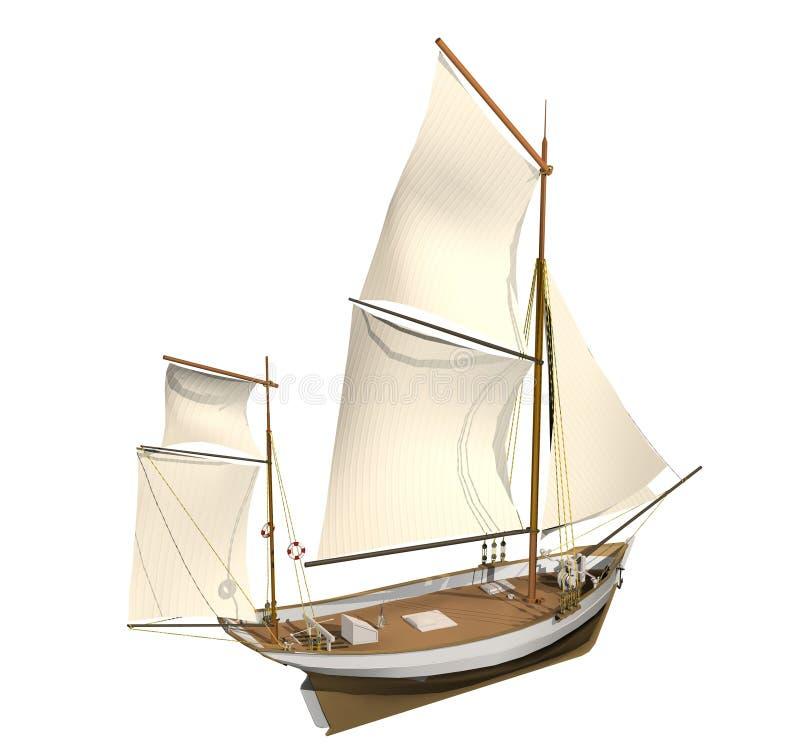 statek żeglując ilustracji
