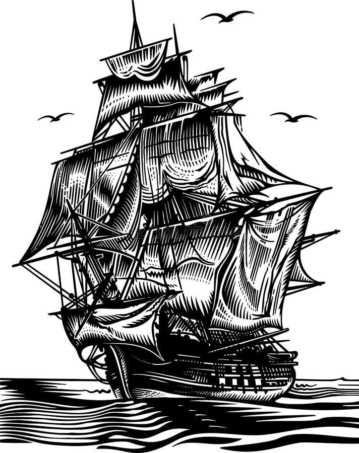 statek ilustracja wektor