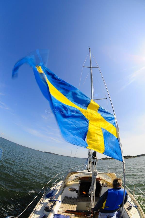 statek bandery zdjęcie stock