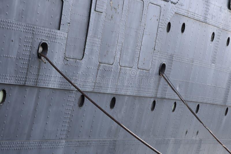 Statek cumujący dokować fotografia royalty free