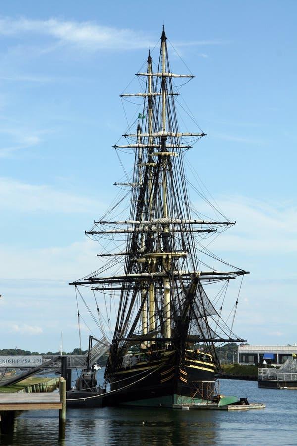 Statek historyczna Handlowa Replika-- Przyjaźń zdjęcia royalty free