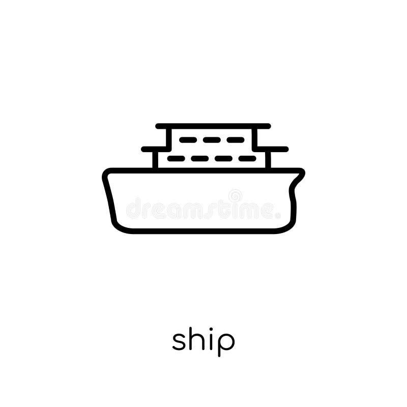 Statek ikona od kolekcji ilustracji