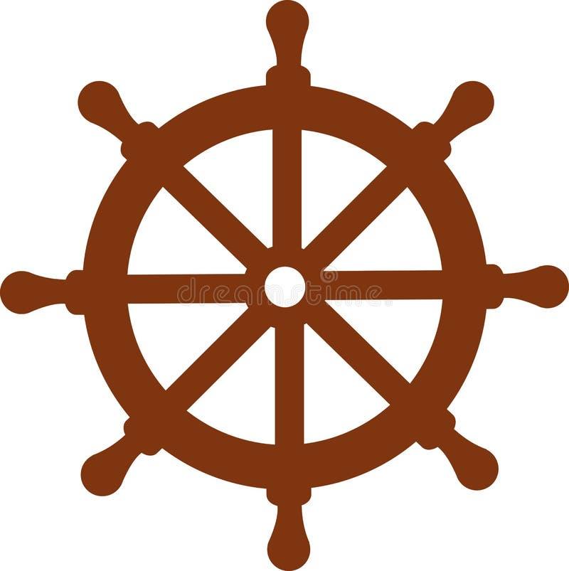 Statek kierownica ilustracja wektor