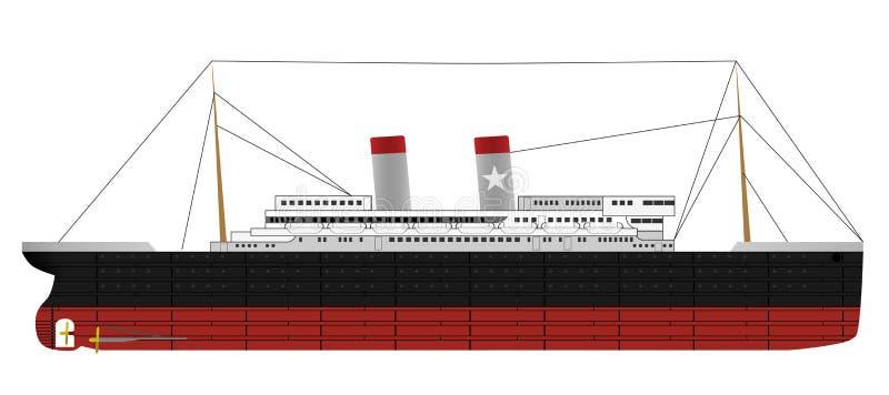 statek kontrpara royalty ilustracja