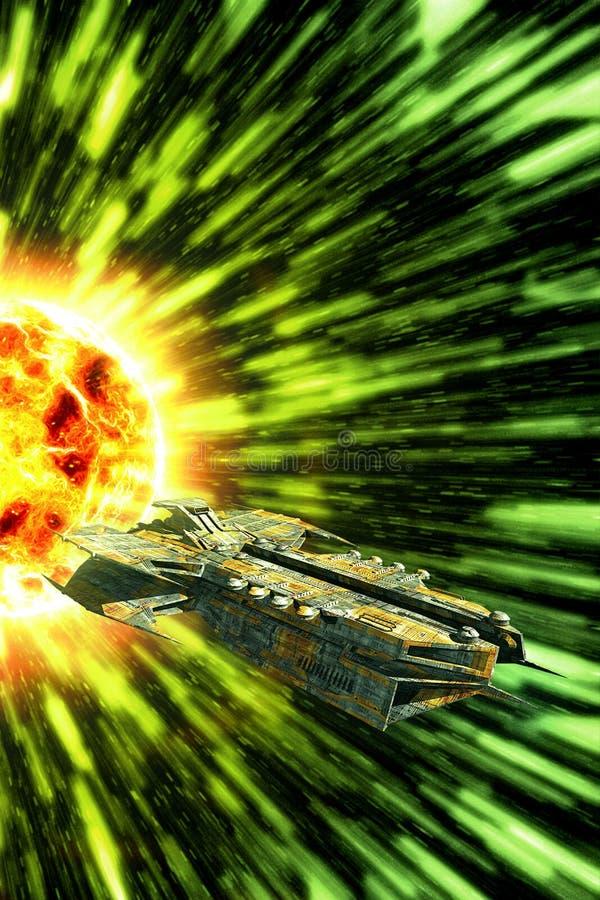 Statek kosmiczny łoktusza royalty ilustracja
