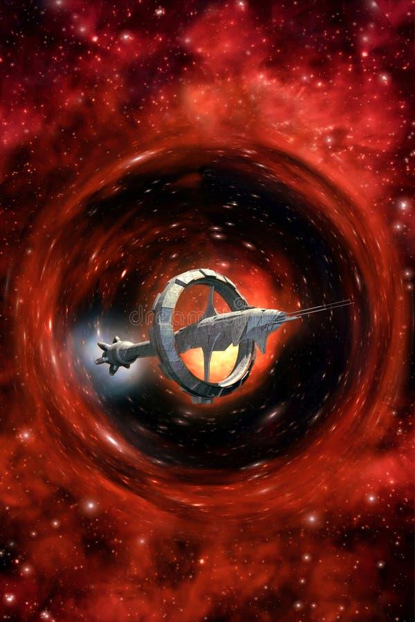 Statek kosmiczny łoktuszy przejażdżka ilustracji