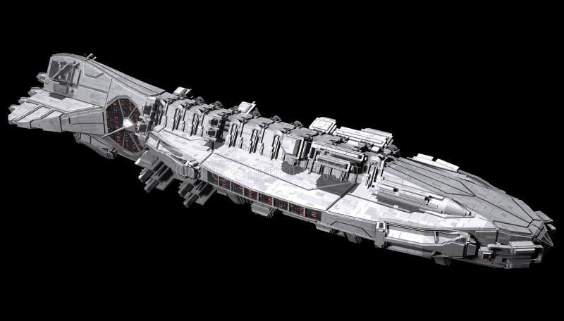 Statek kosmiczny odizolowywający na czarnym tle royalty ilustracja