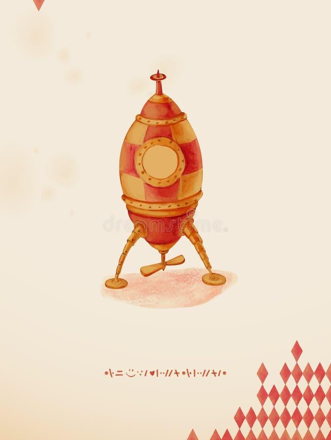 Statek kosmiczny zabawka. ilustracja wektor