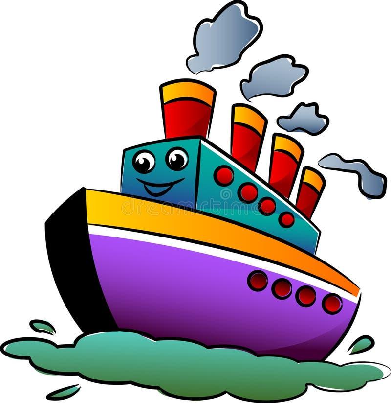 Statek kreskówka ilustracja wektor