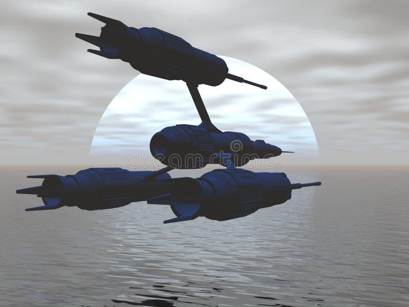 statek myśliwca ilustracji