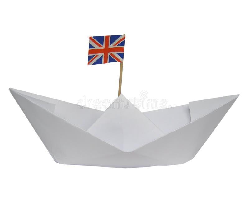statek na papierze fotografia stock