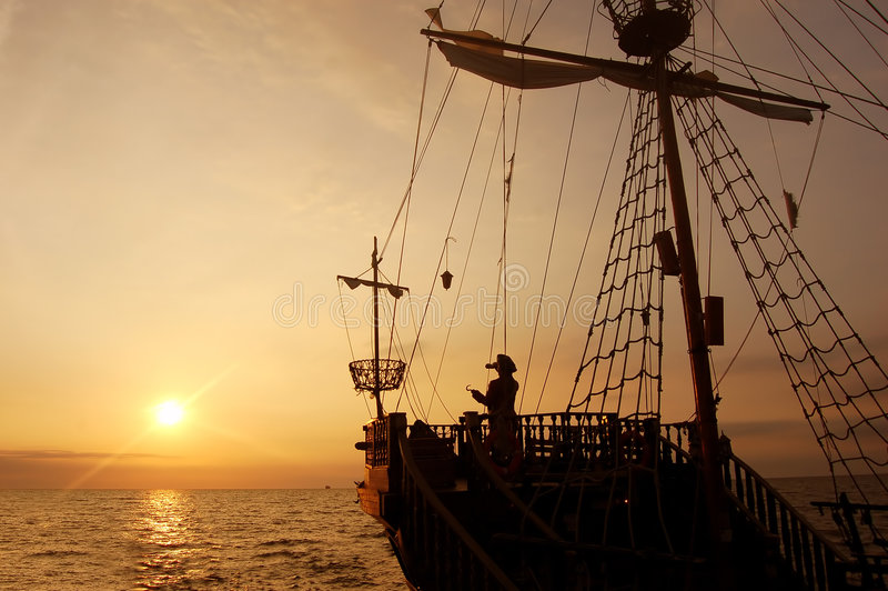 statek piracki zdjęcia stock