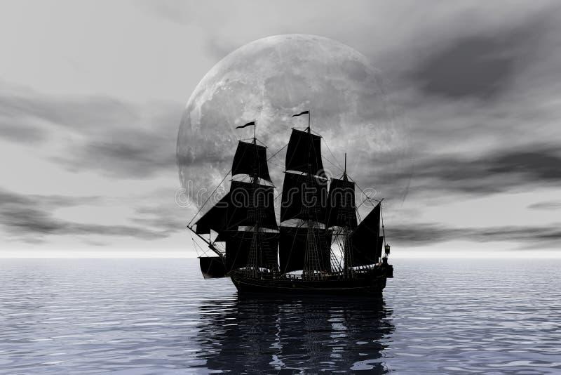 statek piracki ilustracji