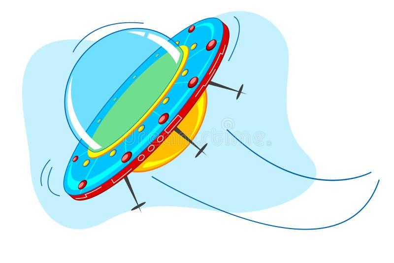 statek przestrzeń ilustracja wektor
