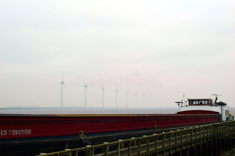Statek przy morzem zdjęcie stock
