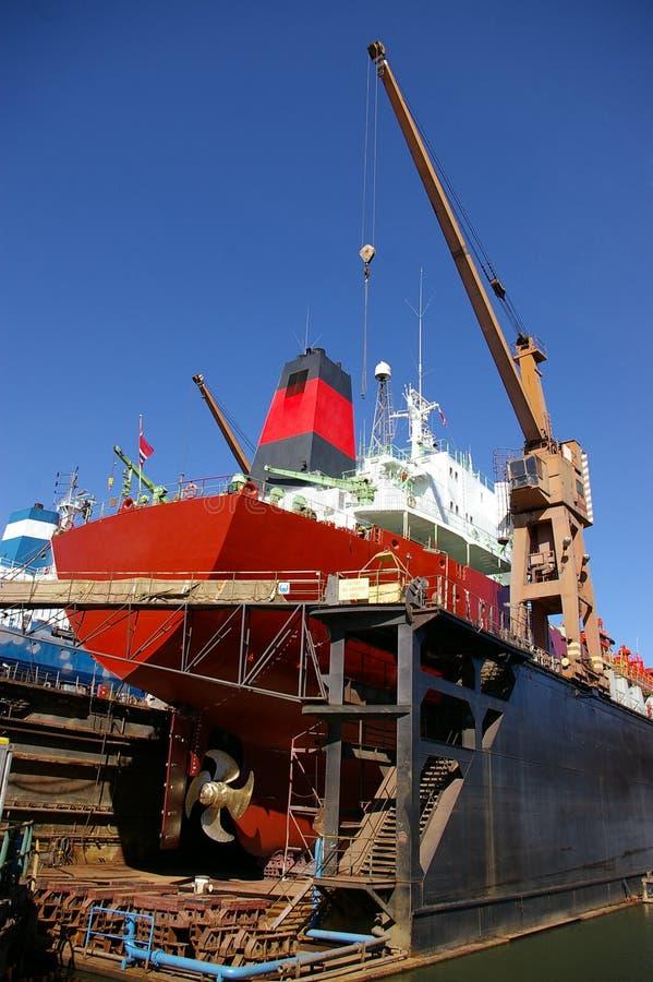 statek remontowego dla przemysłu stoczniowego zdjęcia royalty free