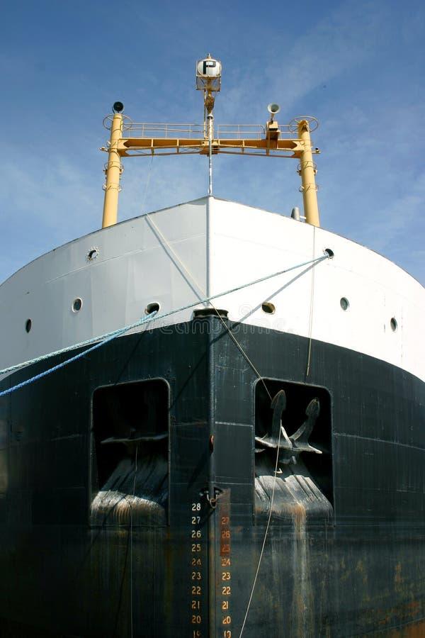 statek towarowy bow fotografia royalty free