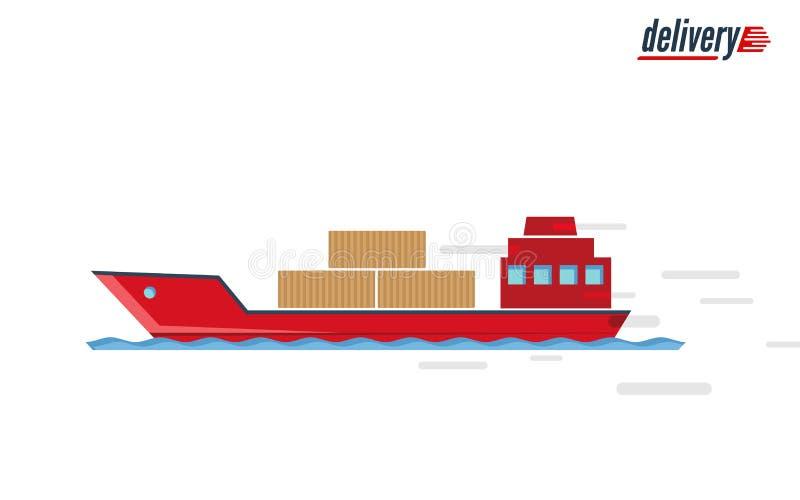 Statek - transportu publicznego projekt Szybka doręczeniowa ikona zdjęcia stock