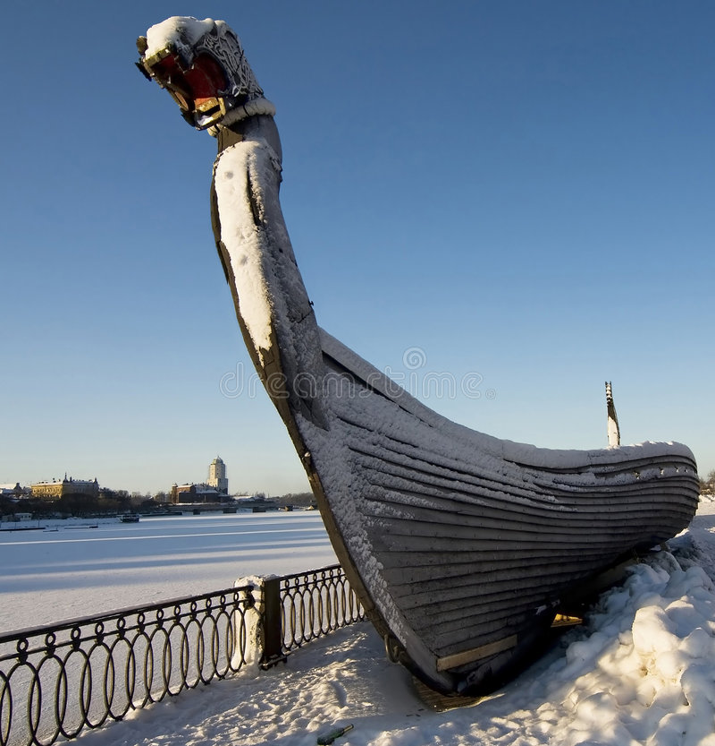 statek Viking zdjęcie royalty free