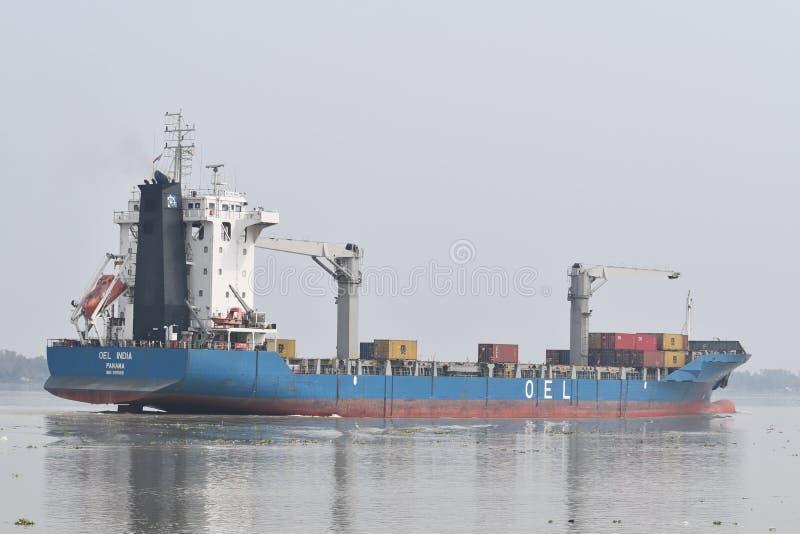 Statek w indyjskim rever zdjęcie stock