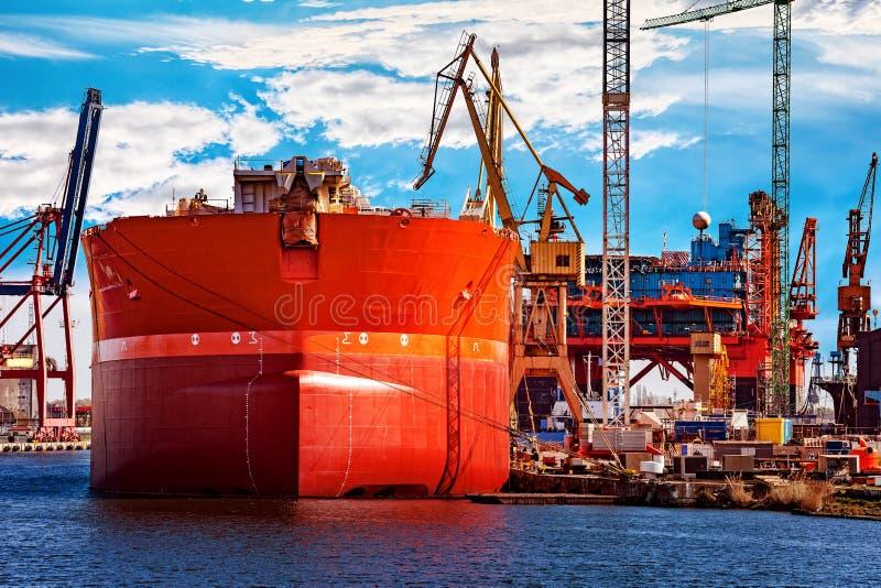 Statek w stoczni zdjęcie stock