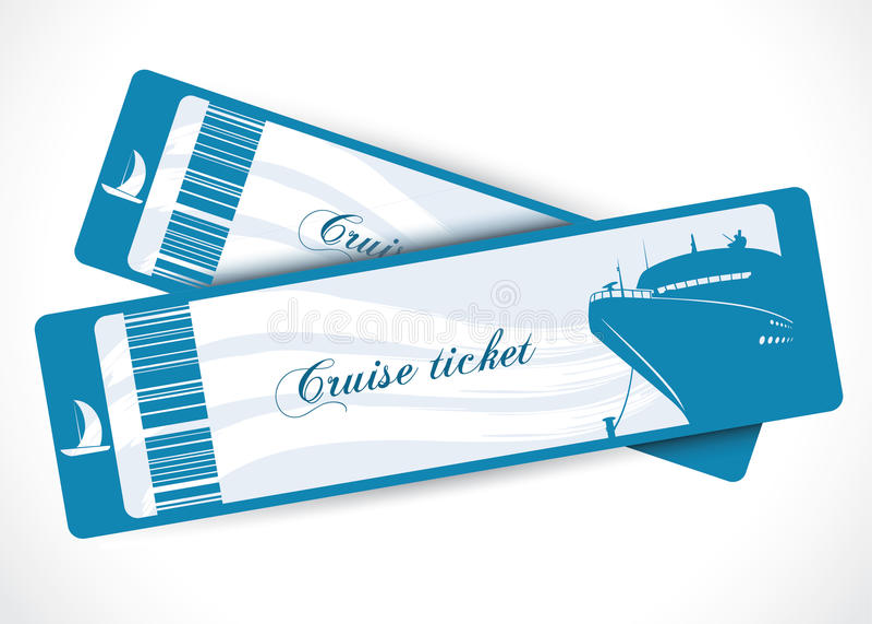Statek wycieczkowy bilety royalty ilustracja