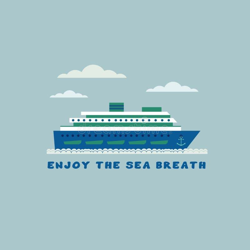 Statek wycieczkowy ikona ilustracja wektor