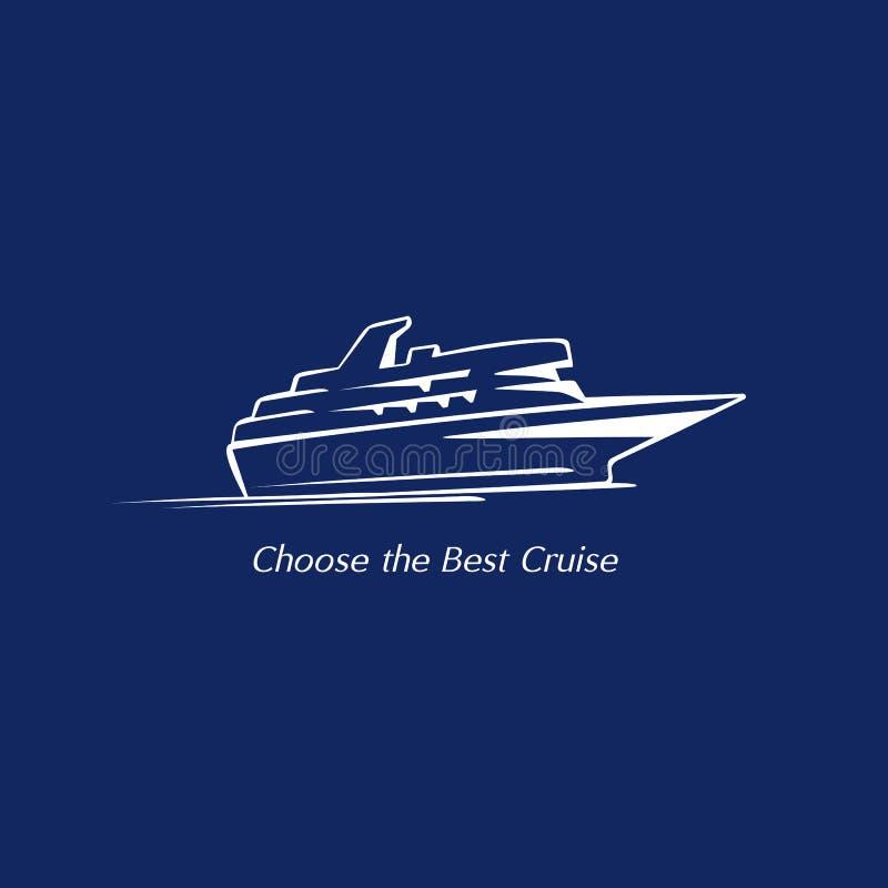 Statek wycieczkowy ikona ilustracji