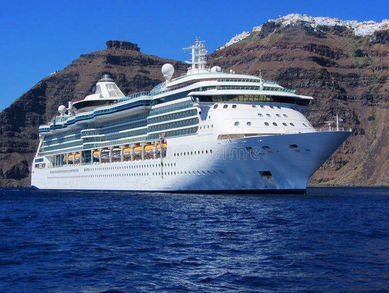 Statek wycieczkowy, Santorini fotografia stock