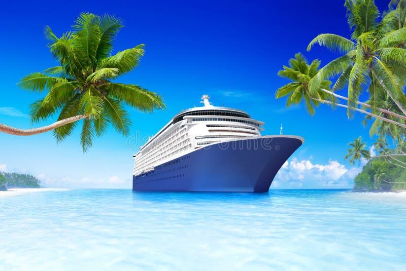Statek wycieczkowy w lato czasie ilustracji