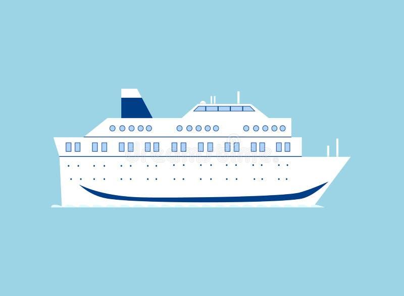 Statek wycieczkowy w morzu ilustracji