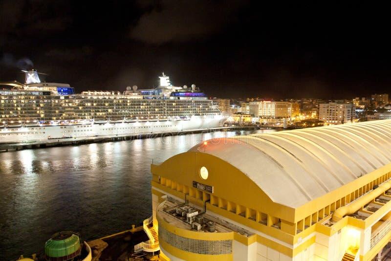 Statek wycieczkowy w San Juan zdjęcie royalty free