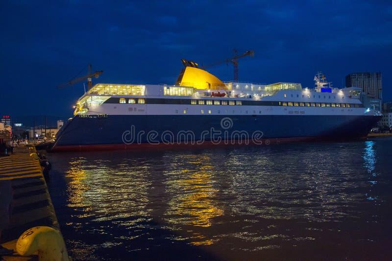 Statek wyspa od Ateny fotografia royalty free