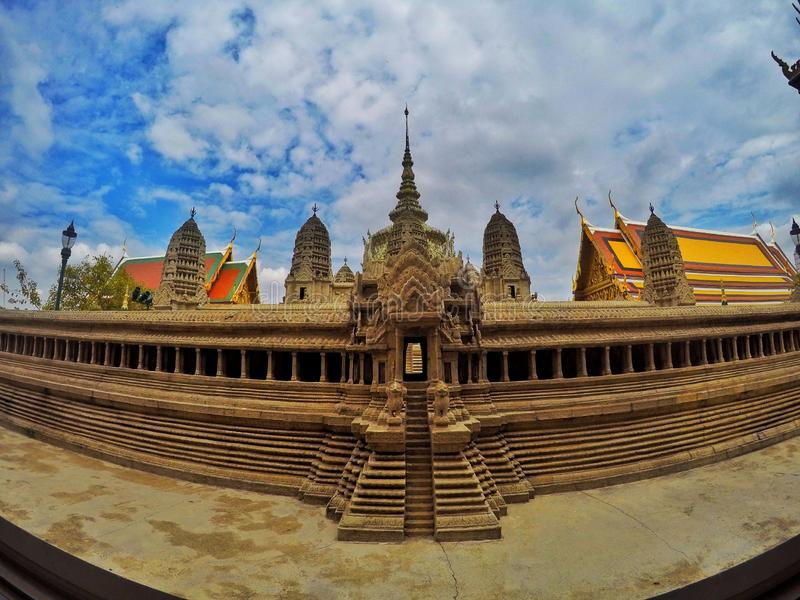 A stately building in Grand Palace. Construction in Grand Palace is famous for its stately beautiful and imposing stock photography
