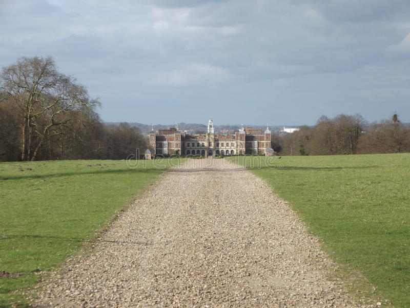 Stately Drive. A Drive Leading To A Stately Home stock photography