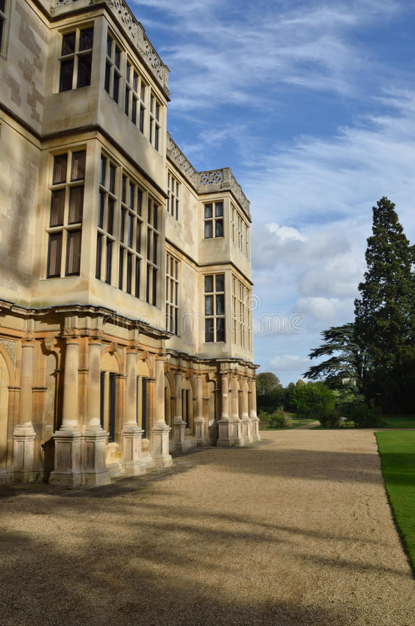 Stately home front stock photos