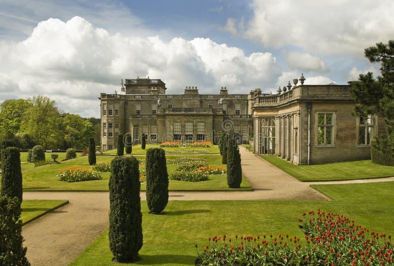 Stately home gardens royalty free stock photos