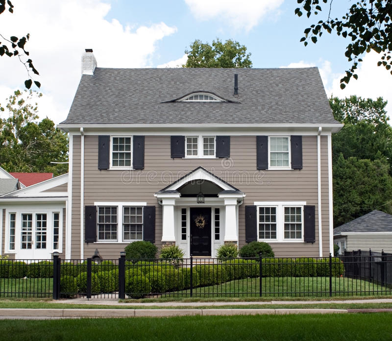 Stately Two Story House royalty free stock image