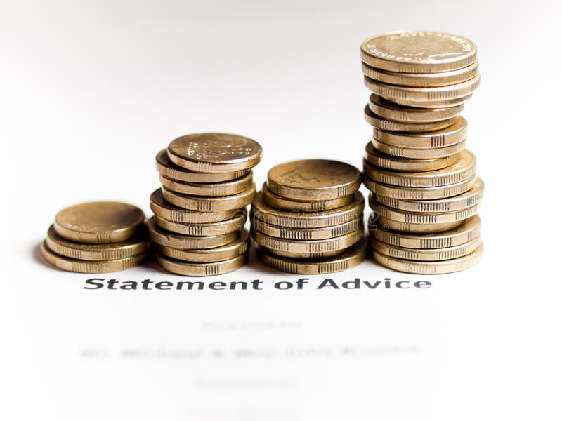 Statement of advise growing wealth concept royalty free stock photo