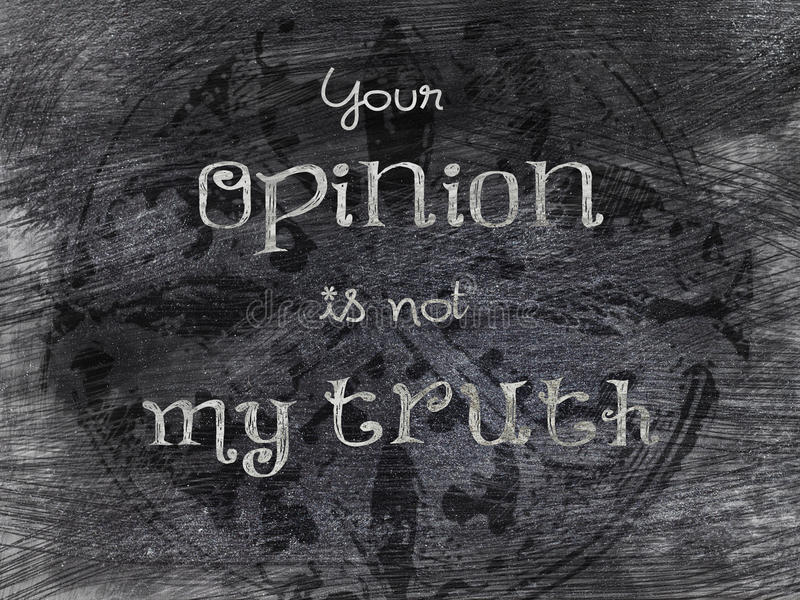 Statement blackboard - your opinion stock illustration